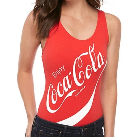 NWOT Coca Cola High Cut Body Suit Cotton Small #68918